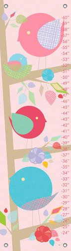 Oopsy Daisy Birdie Stack by Patchi Cancado Growth Charts, 12 by 42-Inch