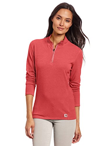 carhartt-women-s-force-performance-cotton-quarter-zip-shirt-geranium-coral-heather-x-large