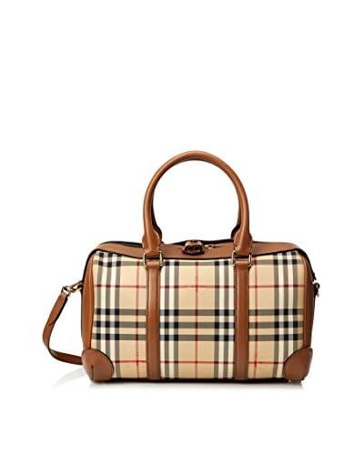 Burberry Women's Check Satchel, Brown/Check