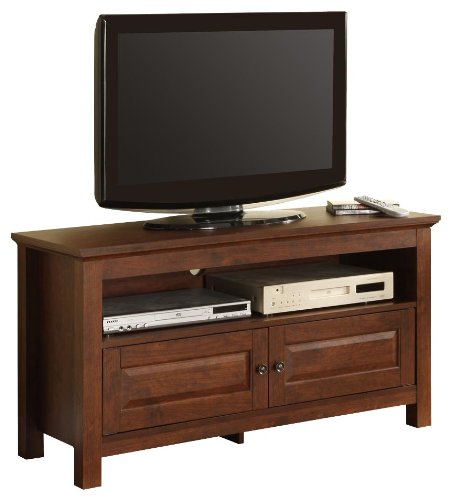 Cheap Walker Edison 44-Inch Wood TV Stand Console, Traditional Brown (WQ44CSTB)