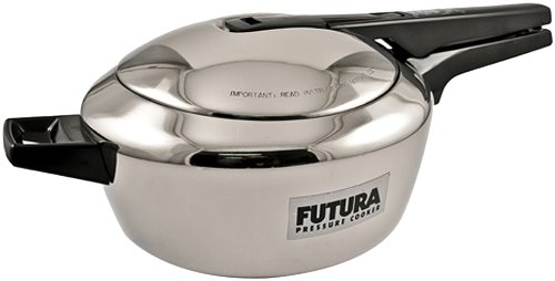 Futura F50 Stainless Steel Pressure Cooker, 5-1/2-Litre