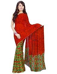 Vamika Georgette Printed Saree (Multi Colour) - B00L309N22