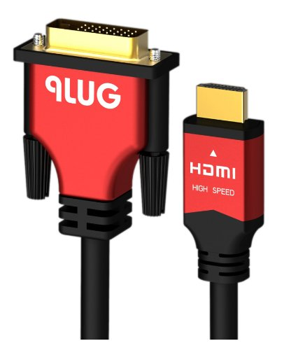 PlugLug- High Speed HDMI to DVI Adapter Cable (10 Feet)