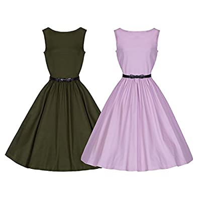 Lindy Bop 'Audrey' Chic Full Skirt 50's Swing Jive Dress