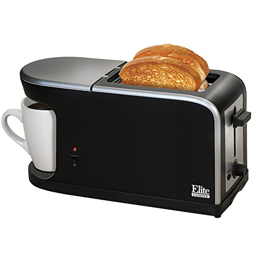 Elite Cuisine ECT-819 MaxiMatic 2-in-1 Dual Function Breakfast Station Toaster and Coffee by Elite Cuisine (Toaster Oven With Coffee Maker compare prices)
