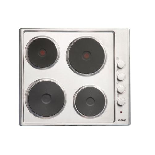 4 Solid Plate Hob in Stainless Steel