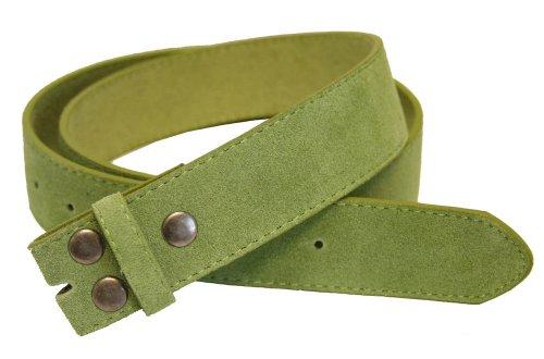 """Belts.Com Bs66 Genuine Leather Suede Belt Strap 1.5"""" Lime 36"""