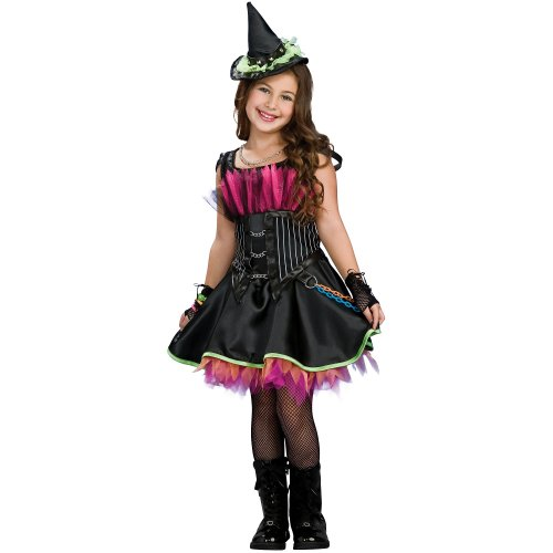 Girls Rockin Out Witch Costume, Black, Girls