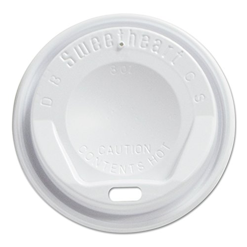 Solo Foodservice LGX8R1-0007 Polystyrene Hot/Cold Drink Lid, White (Pack of 1000) (8 Oz Solo Lids compare prices)