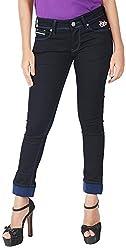 INTEGRITI Women's Slim Fit Jeans (FLY-LANK-102 EZYFT RWBL_28, Blue, 28)