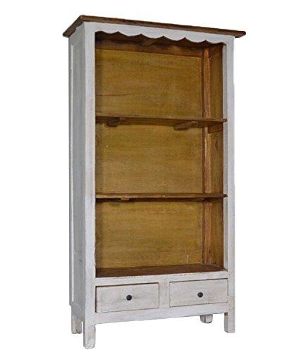 francese bianco libreria ripiani scaffale portaoggetti display legno vintage Retroxl