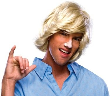 Rubie's Costume Characters Surfer Dude Blonde Wig
