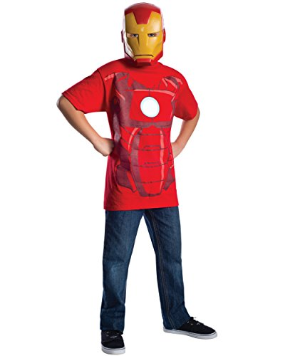 Marvel Avengers Assemble Iron Man Costume T-Shirt with Mask