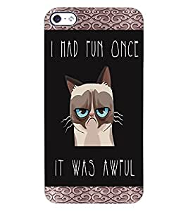 ColourCraft Funny Quote Image Design Back Case Cover for APPLE IPHONE 4