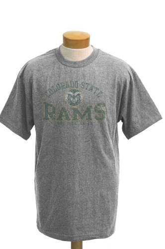 NCAA Men's Colorado State Rams Saunders Short Sleeved T-Shirt (Athletic Heathered Grey, X-Large)