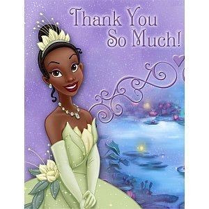 Princess and the Frog - Thank You Notes - 8/Pkg. - 1