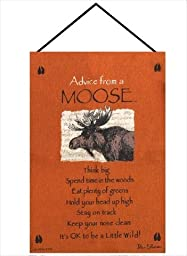 Manual Advice From a Moose Woven X Your True Nature Wall Hanging, 17 X 26-Inch