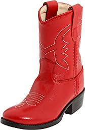 Old West Toddler-Girls\' Cowboy Boot Red 4.5 D(M) US