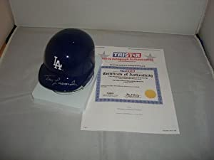 Tom Lasorda Signed Los Angeles Dodgers Mini Helmet, Tristar Authentic