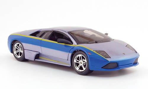 Lamborghini Murcielago LP640, grau/blau, Need For Speed, Modellauto, Fertigmodell, Maisto 1:24