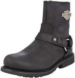 Harley-Davidson Men\'s Scout Motorcylce Harness Boot, Black, 12 M US