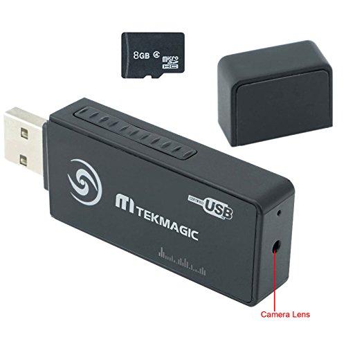 TEKMAGIC 8GB Mini Caméra Espion USB Lecteur Flash Magnétoscope Activé Par Le Mouvement de Sécurité DVR