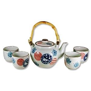 Porcelain Tea Set Usagi & Sakura 28oz #15306 by JapanBargain
