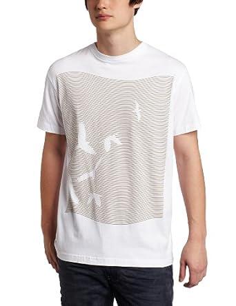Tavik Men's Waaves Back Print T-Shirt, White, Large