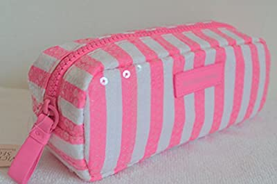 Best Cheap Deal for Victoria's Secret Sequins Pink White Striped Cosmetic Makeup Small Case Bag from VICTORIA'S SECRET - Free 2 Day Shipping Available