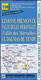 Carta n.114 Limone Piemonte, valle delle Meraviglie, St. Dalmas de Tende 1
