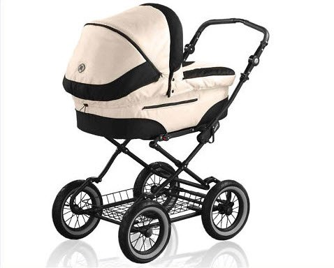 Buy Roan Rocco Classic Pram Stroller 2-in-1 with Bassinet and Seat Unit 6 (Six) Colors Pearl