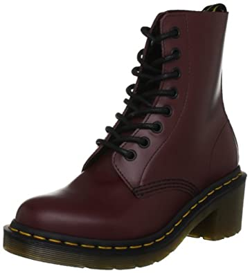 Dr. Martens Women's Clemency Boot,Cherry Red Smooth,4 UK/6 M US