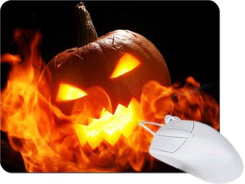 Rikki Knighttm Halloween Pumpkin In Fire Tanpad Ultra Thin Mouse Pad Ideal For All Laptops, Notebooks, Macbook Air, Macbook Pro front-560385