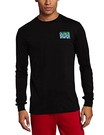 Quiksilver Men's Shakedown Long Sleeve Shirt, Black, Small