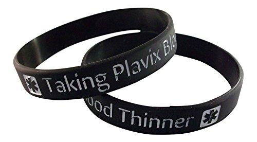 2-plavix-medical-id-alert-silicone-wristband-bracelets-size-l