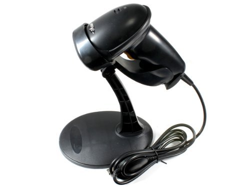 USB Automatic Barcode Scanner Scanning Barcode Bar code Reader with Hands Free Adjustable Stand Black