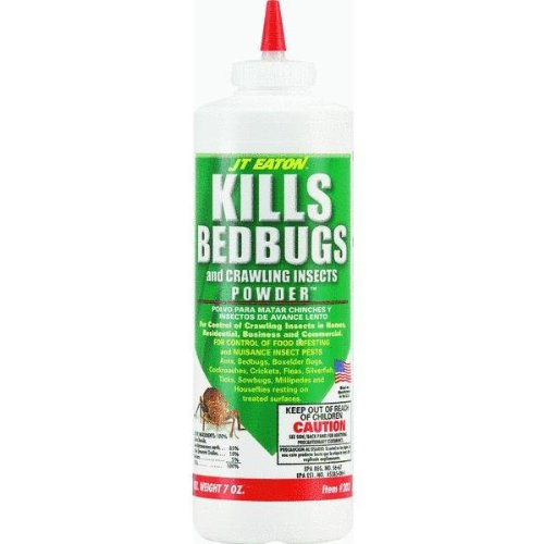 JT Eaton 203 Kills Bedbugs And Crawling Insects Powder, 7-Ounce Bottle