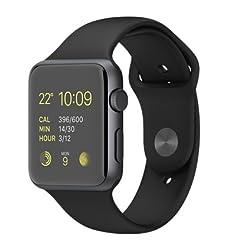 [中古A]Apple Watch Sport 42mm MJ3T2J/A ブラックスポーツバンド