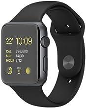 Apple Watch Sport 42 mm Caja de Aluminio en Gris Espacial y Correa Deportiva Negra