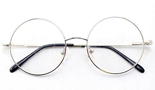Agstum Retro Round Prescription ready Metal Eyeglass Frame ...