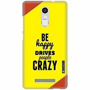 Printland Designer Back Cover for Xiaomi Redmi Note 3 - Crazy Case Cover