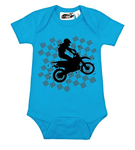 Motocross Turquoise & Gray One Piece (3-6 Months) front-843676