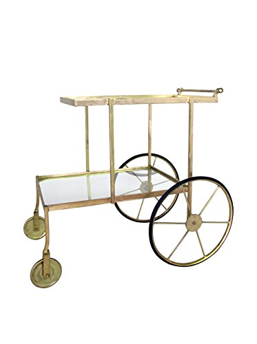 Blue Ocean Traders Glisten Bar Cart, Brass