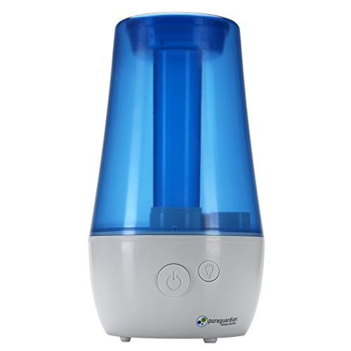 Protector Technologies Ultrasonic Cool Mist Humidifier, Crystal White