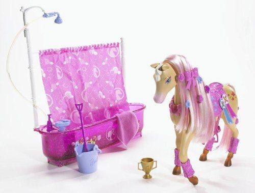barbie doll reviews barbie shower show horse