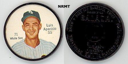 1962 Salada Tea Coins (Baseball) Card# 71 Luis Aparicio (180 Back) Of The Chicago White Sox Ex Condition