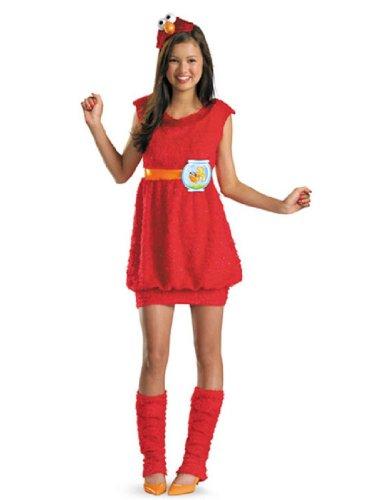 Disguise Sesame Street Elmo Teen Girls Costume, X-Large/14-16