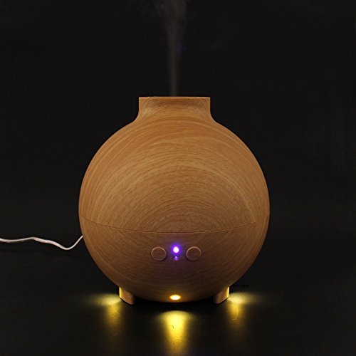 Origlam® 600Ml Aroma Atomizer Led Light Ultrasonic Aromatherapy Humidifier Air Purifier Diffuser Pp Material Adding Essential Oil With External Spraying Nozzle (Brown)