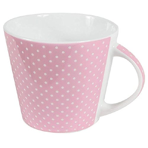 Porzellan Jumbo Kaffee Tasse Mini Dots Punkte Rosa Inhalt 0,3 l Tee & Kaffee Tasse Service Tafelservice Hergestellt in Deutschland, mikrowellensicher, spülmaschinenfest
