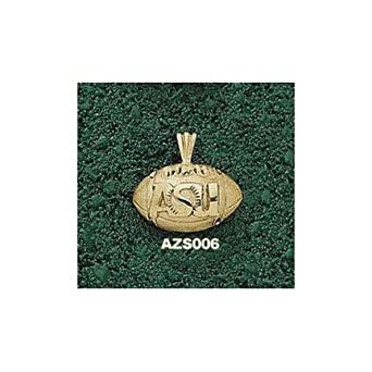 Arizona State Sun Devils ASU Football Pendant - 14KT Gold Jewelry by Logo Art